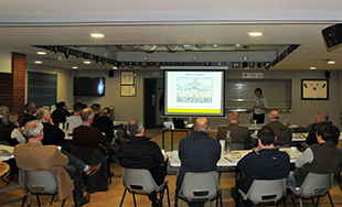 Image of presentation at pig roadshow