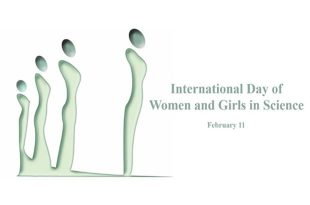 International Day of Women and Girls in Science logo. February 11