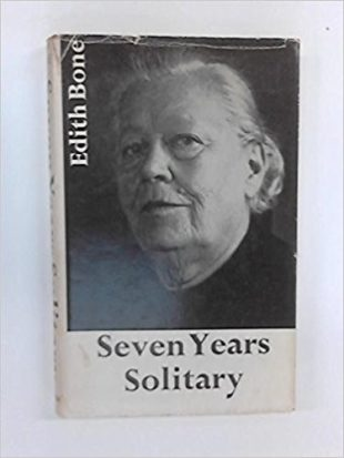 Photo of the book that Dr Edith Bone wrote entitled 'Seven Years of Solitary.'