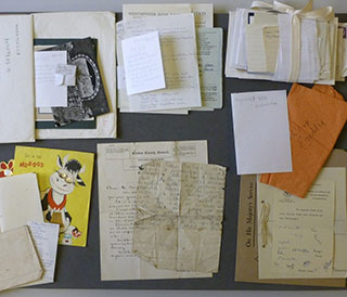 Selection of material from Connie Ford papers