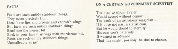 wo of Connie Ford's poems, taken from 'Veterinary Ballads and other poems