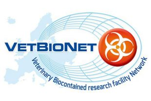 VetBioNet Logo with the words 'veterinary biocontained research facility network' under 'VetBioNet'