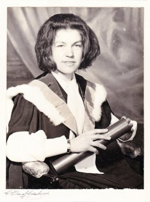 Picture of Jane Clarke at her graduation