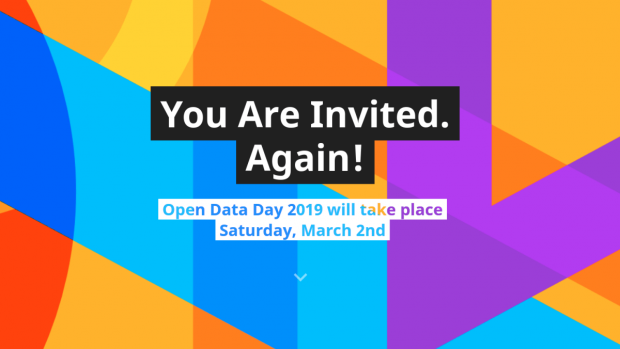 You are invited again! Open Data Day 2019 will take place Saturday, March 2nd