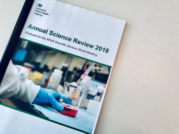 Image of the front cover of APHA's Annual Science Review 2018